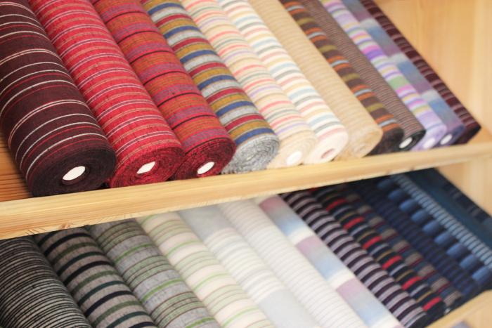 遠州綿紬の生地