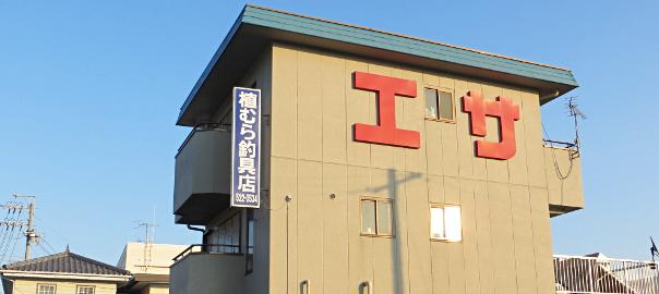 奥浜名湖、細江にある釣具店、植村釣具店です。