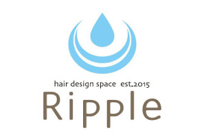 hair design space Ripple リプル ロゴ