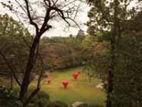 浜松城公園、石舞台での展示